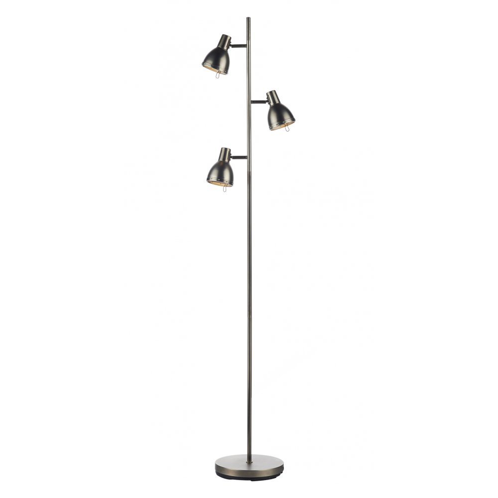 dar osaka antique chrome  osa  floor lamps online - dar osa osaka  light floor lamp antique chrome ‹
