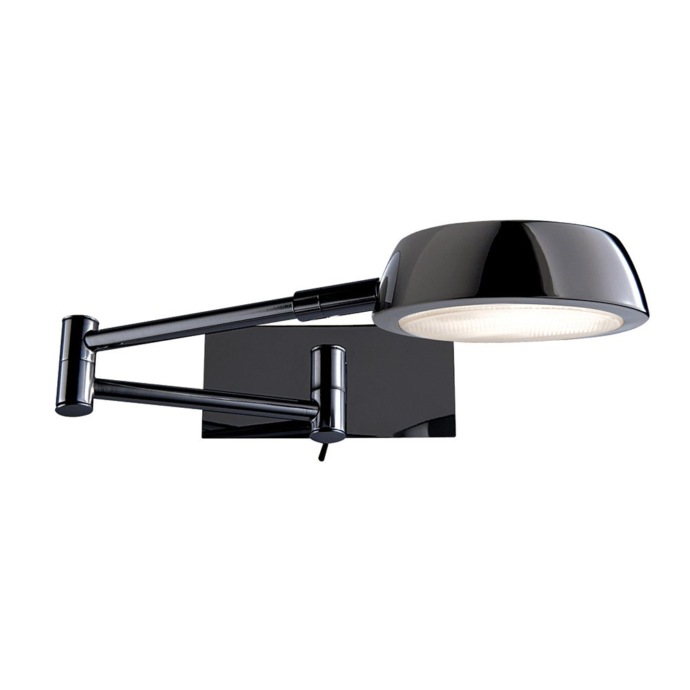 Wall Lights Adjustable : Searchlight 3863BC Adjustable Wall Lights 1 Light Black Chrome Wall Light