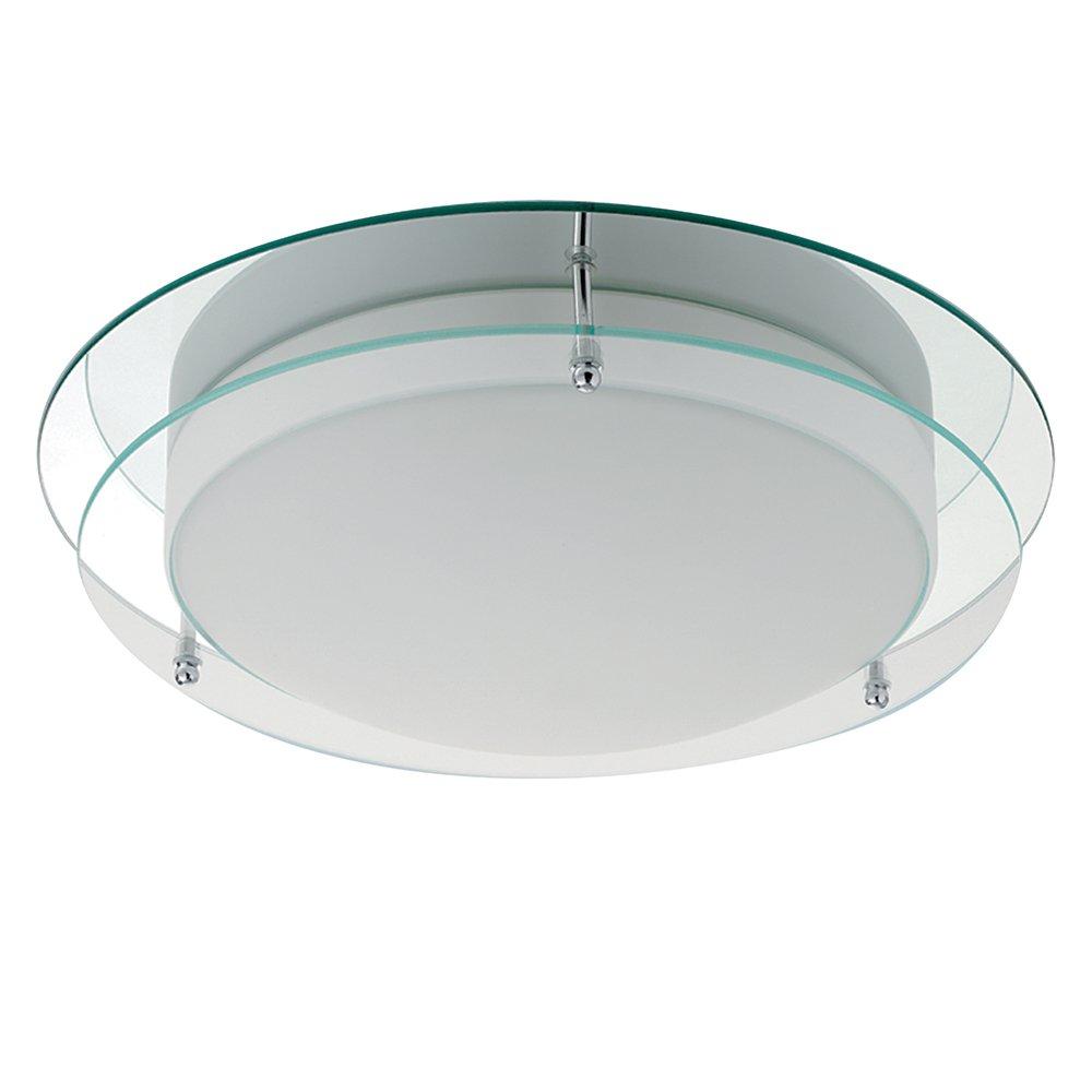 Searchlight 7803 36 Bathroom Lights 2 Light Flush Ceiling Polished Chrome