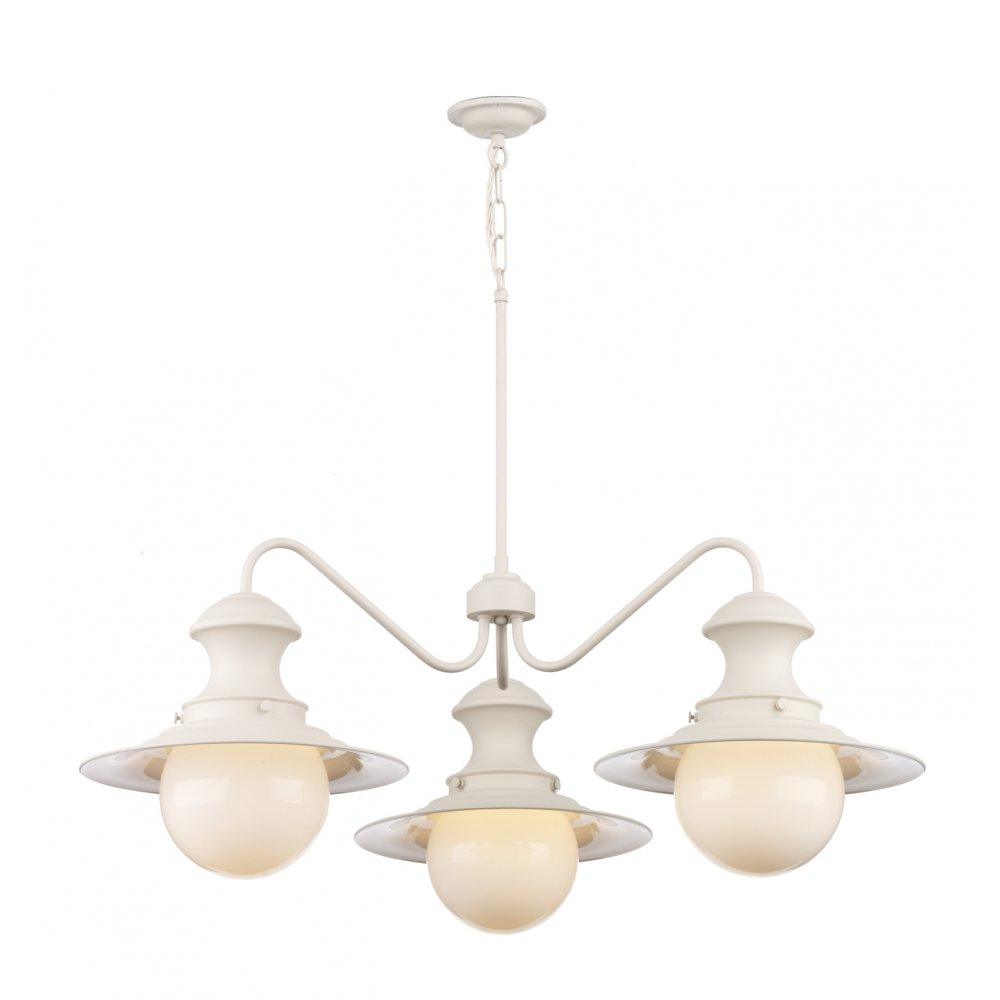 David Hunt EP5333 Station Lamp 3 Light Ceiling Light Cotswold Cream. u2039