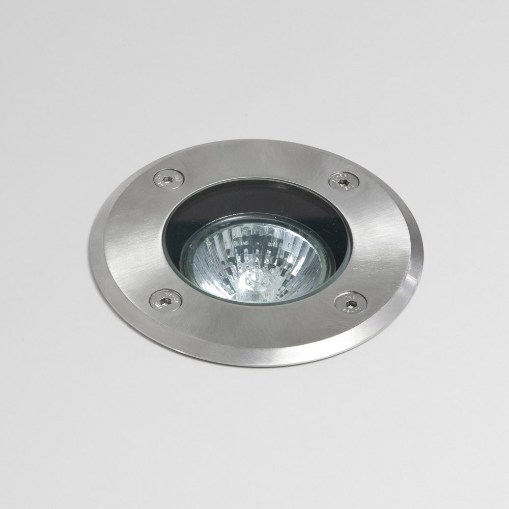 Astro gramos 7131 outdoor ground light ip65 stainless steel for Round exterior lights