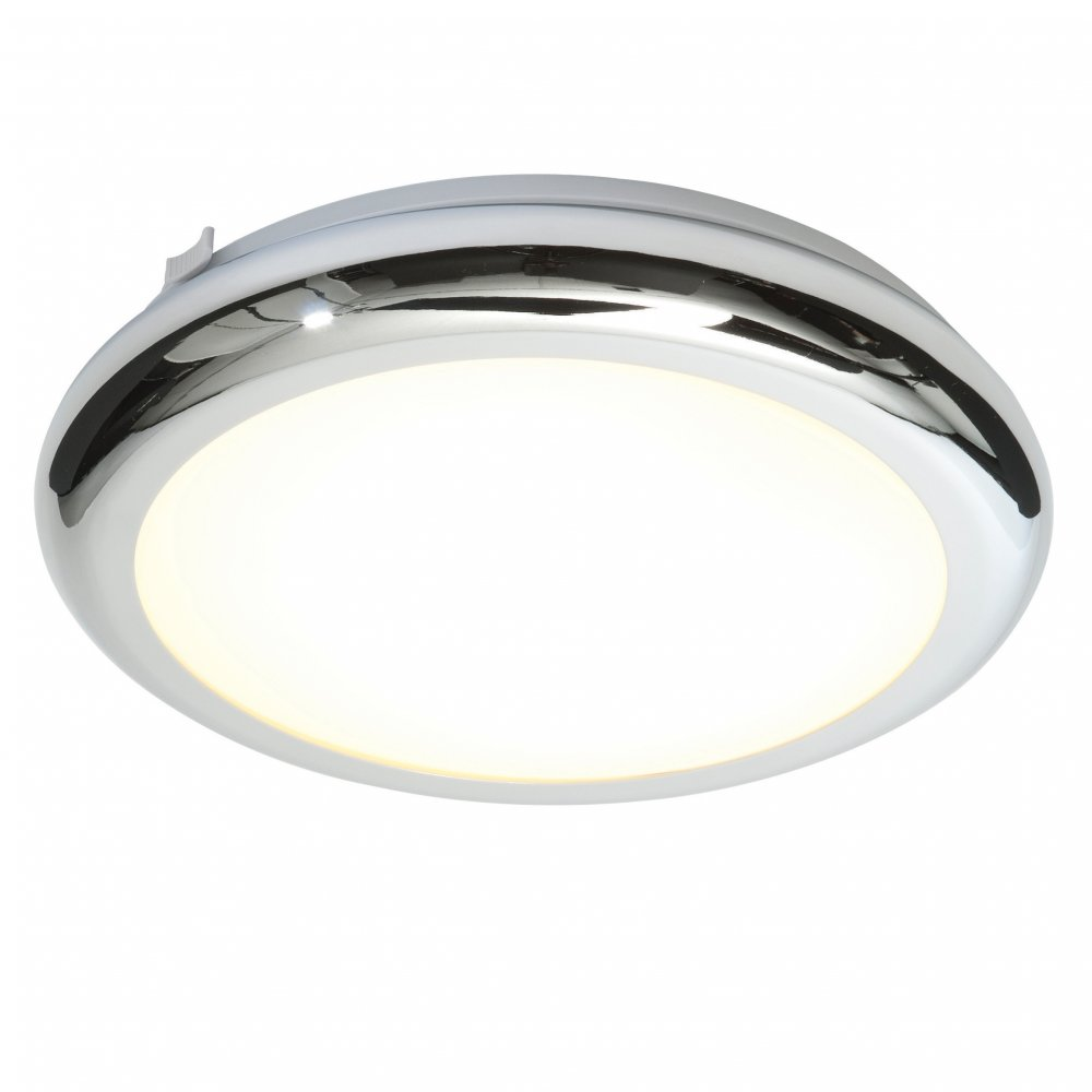 Endon 40393 Sigma Flush Ceiling Light Chrome