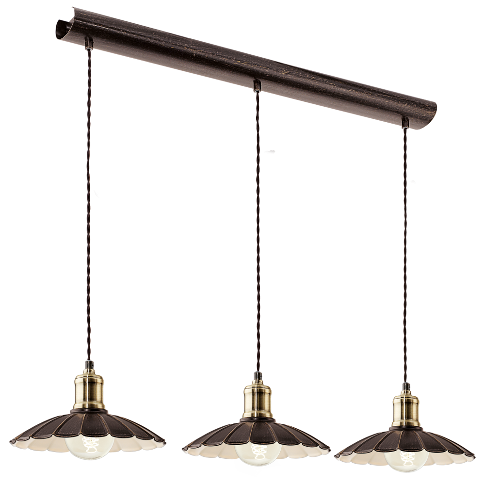 Eglo 49463 Hemington 3 Light Large Ceiling Pendant Black Gold