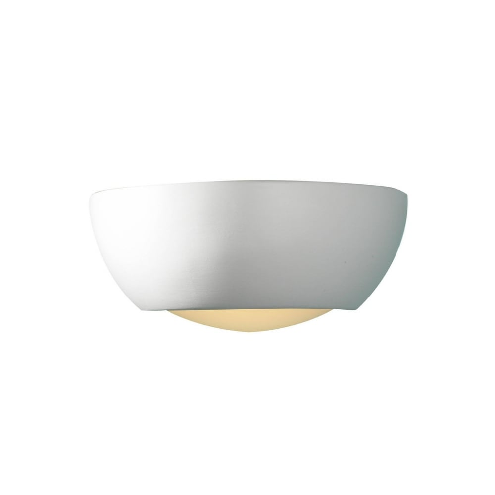 Modern Ceramic Wall Lights : Dar MIL072 Milo 1 light modern wall light glass and satin ceramic finish (large) - Dar from ...