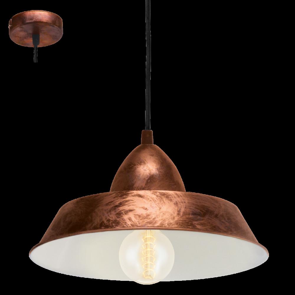 Ceiling Lights Copper : Eglo auckland light ceiling pendant antique copper