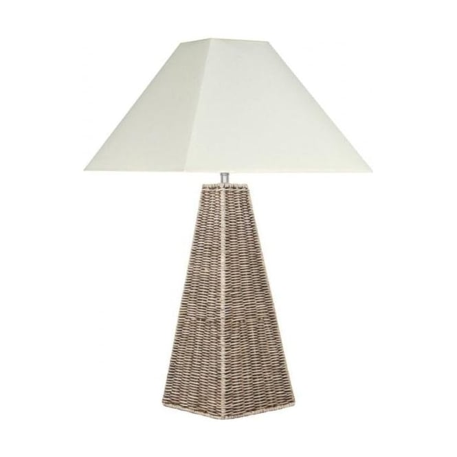 Pacific Lifestyle 504 Raffles Rattan Pyramid Table Lamp Table Lamps From Enzo Living Uk